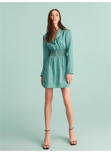 Nocturne Fermuarlı Ceket Elbise Yeşil